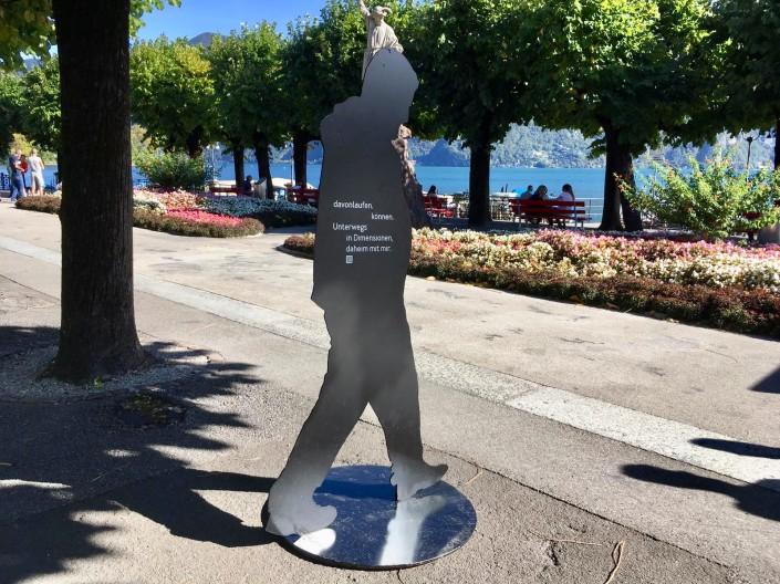 Das Foto zeigt eine der Silhouetten in Lugano